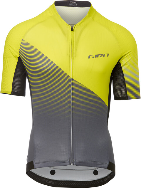 Giro Chrono Pro Kortärmad cykeltröja Herr gul/grå